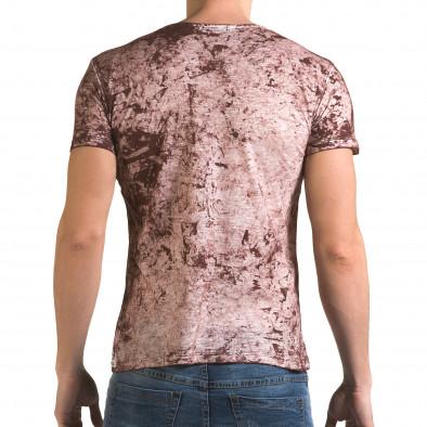 Ανδρική κόκκινη κοντομάνικη μπλούζα Lagos il120216-9 3