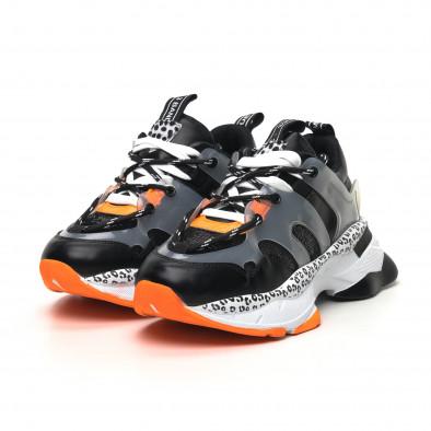 Γυναικεία μαύρα sneakers Sense8 tr180320-14 3