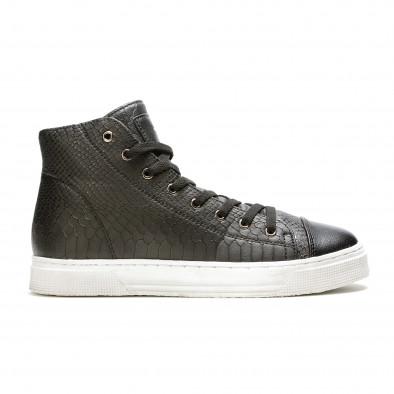 Ανδρικά μαύρα sneakers Niadi it100915-5 2