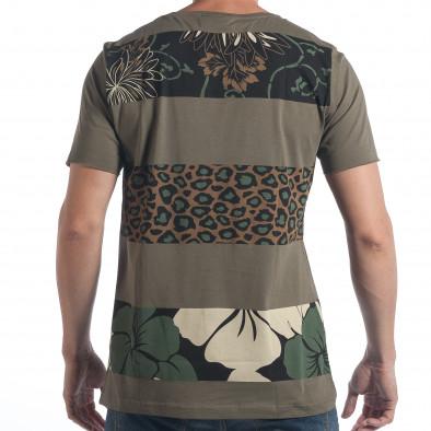 Ανδρική πράσινη κοντομάνικη μπλούζα 2Y Premium tsf090617-36 3