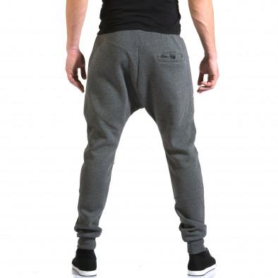 Ανδρικό γκρι παντελόνι jogger New Star it211015-55 3