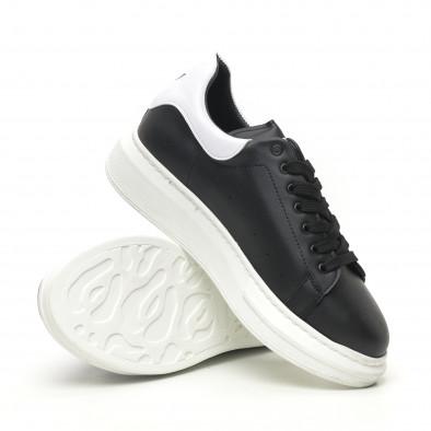 Ανδρικά μαύρα sneakers με χοντρή σόλα tr180320-34 4