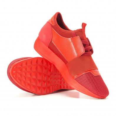 Γυναικεία κόκκινα αθλητικά παπούτσια Anesia it200917-51 4