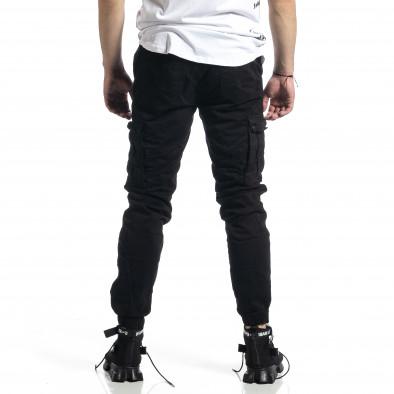 Ανδρικό μαύρο παντελόνι Cargo Jogger tr270221-3 3