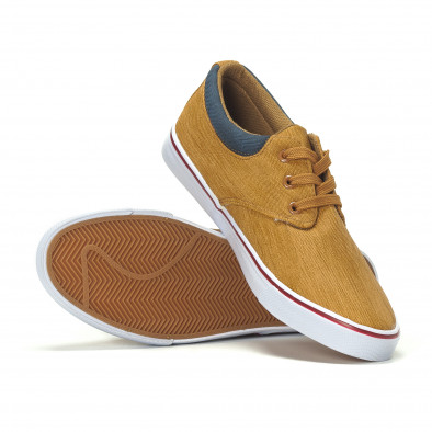 Ανδρικά sneakers σε χρώμα camel it240418-23 4