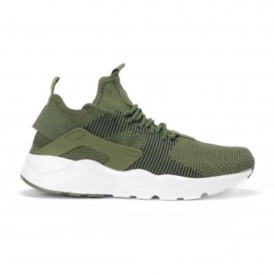 Ανδρικά πράσινα υφασμάτινα αθλητικά παπούτσια it160318-3 - Fashionmix.gr 0c74dde0041