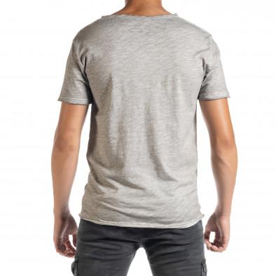 Ανδρική γκρι κοντομάνικη μπλούζα Duca Homme it010720-27 3