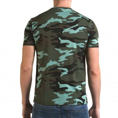 Ανδρική πράσινη κοντομάνικη μπλούζα Italian Boy it090216-65 3