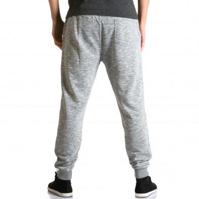 Ανδρικό γκρι παντελόνι jogger Enos ca190116-31 3