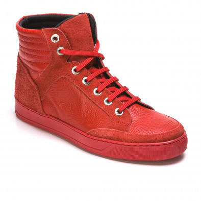 Ανδρικά κόκκινα sneakers Martin Pescatore It050216-4 3