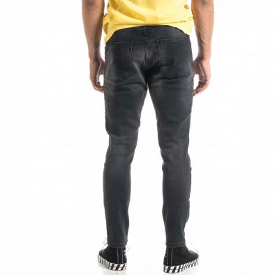 Ανδρικό μαύρο τζιν White Yellow Paint tr020920-6 3