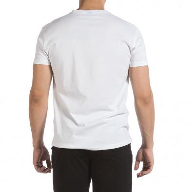 Ανδρική λευκή κοντομάνικη μπλούζα Givova it040621-18 3