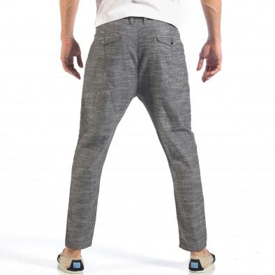 Ανδρικό γκρι παντελόνι με κορδόνι it260318-109 4
