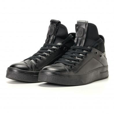 Ανδρικά μαύρα sneakers Montefiori it200917-15 3