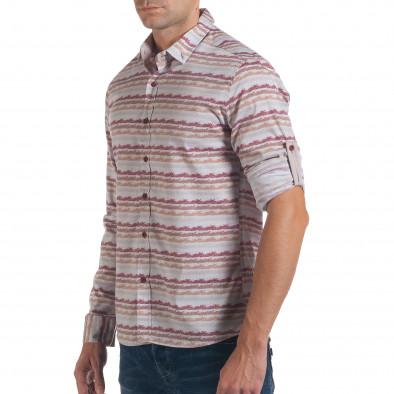 Ανδρικό γκρι πουκάμισο Mario Puzo tsf061016-1 4