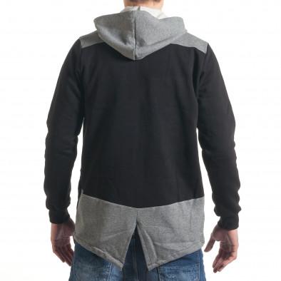Ανδρικό μαύρο φούτερ ChRoy it211116-44 3