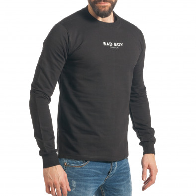 Ανδρικό μαύρο φούτερ RHUM22 it290118-100 4
