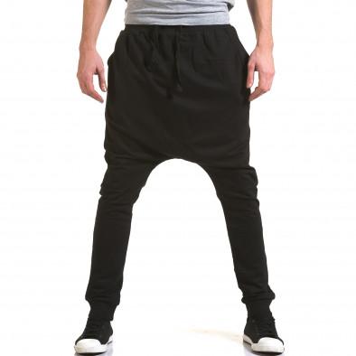 Ανδρικό μαύρο παντελόνι jogger Dress&GO it090216-35 2