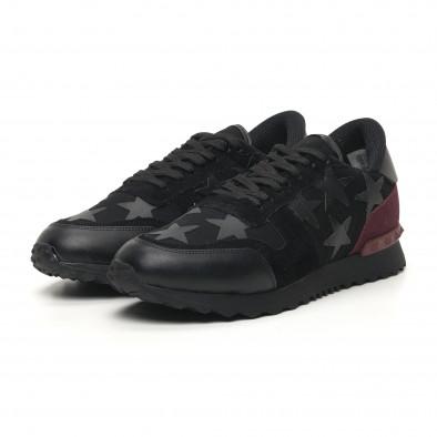 Ανδρικά μαύρα αθλητικά παπούτσια FM tr180320-27 3