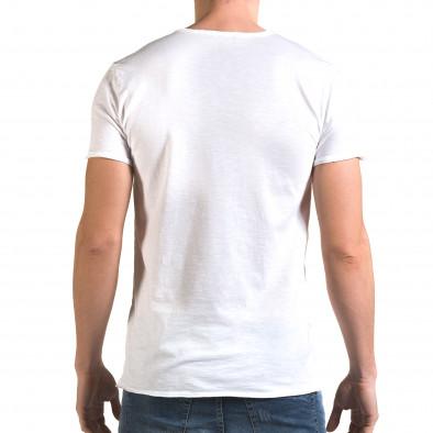 Ανδρική λευκή κοντομάνικη μπλούζα FM it090216-79 3
