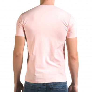 Ανδρική ροζ κοντομάνικη μπλούζα Lagos il120216-42 3