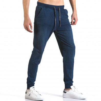 Ανδρικό γαλάζιο παντελόνι jogger Enos it090216-58 4