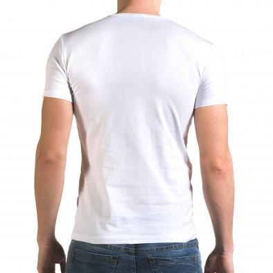 Ανδρική λευκή κοντομάνικη μπλούζα Lagos il120216-13 3