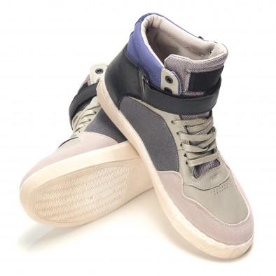 Ανδρικά γκρι sneakers Reeca it100915-17 4