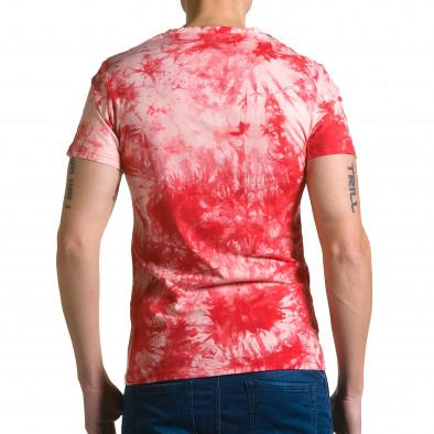 Ανδρική κόκκινη κοντομάνικη μπλούζα P2P ca190116-44 3