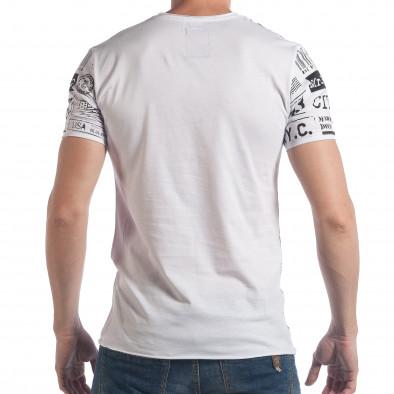 Ανδρική λευκή κοντομάνικη μπλούζα Breezy tsf090617-22 3