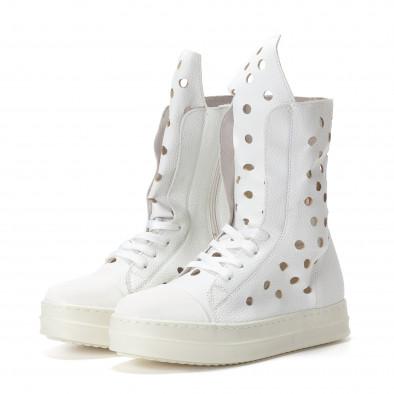 Γυναικεία λευκά μποτάκια Fersini it240118-29 4