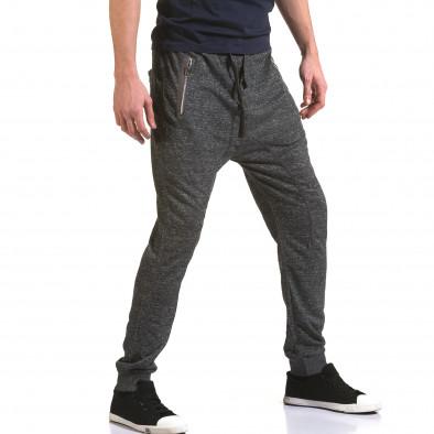 Ανδρικό γκρι παντελόνι jogger Dress&GO it090216-36 4