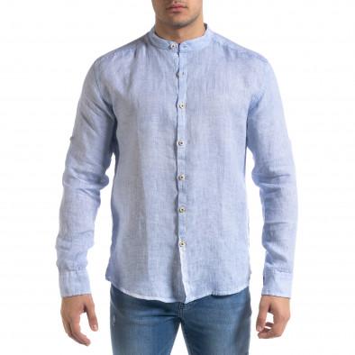 Ανδρικό γαλάζιο πουκάμισο RNT23 tr110320-89 3