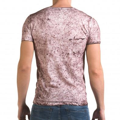 Ανδρική ροζ κοντομάνικη μπλούζα Lagos il120216-18 3