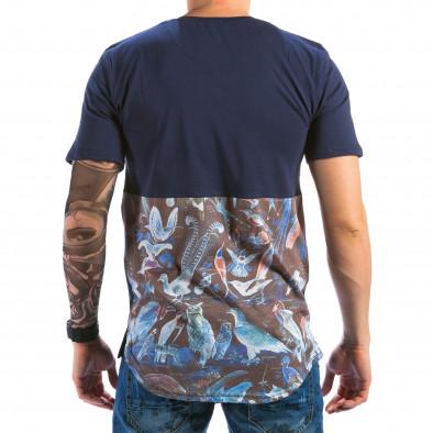 Ανδρική γαλάζια κοντομάνικη μπλούζα Catch il180215-94 3
