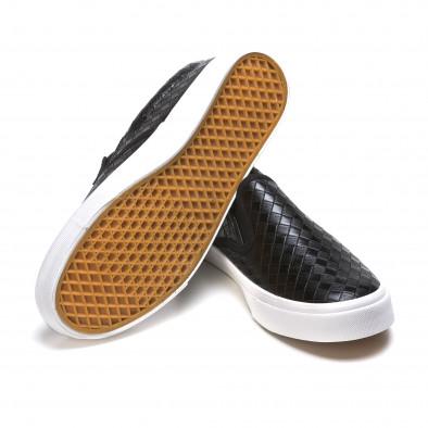 Ανδρικά μαύρα sneakers Niweile It050216-9 4