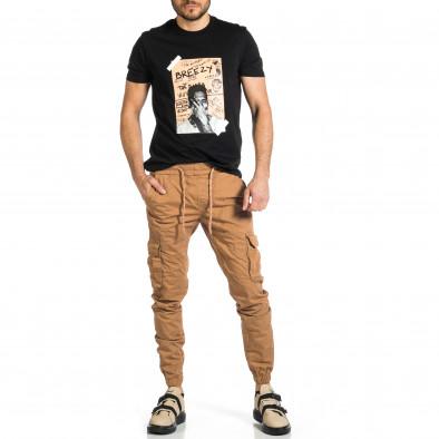 Ανδρικό camel παντελόνι cargo Plus Size tr270421-14 4