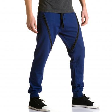 Ανδρικό γαλάζιο παντελόνι jogger DelPiero ca190116-26 4