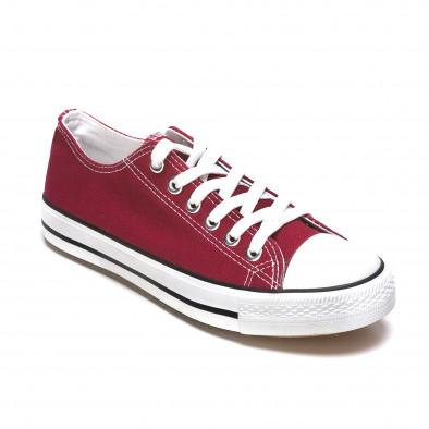 Ανδρικά κόκκινα sneakers Dilen It050216-2 3