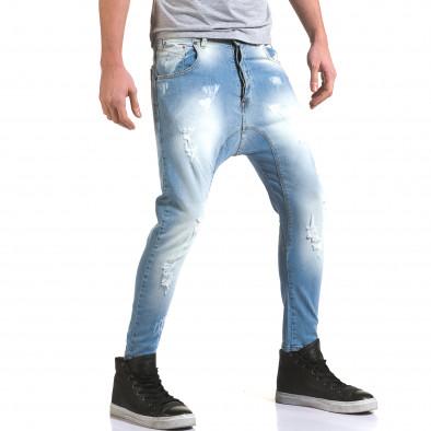 Ανδρικό γαλάζιο τζιν QBR it090216-32 4