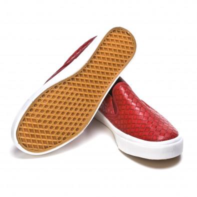 Ανδρικά κόκκινα sneakers Niweile It050216-8 4