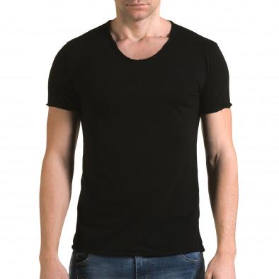 Ανδρική μαύρη κοντομάνικη μπλούζα FM it090216-78 2
