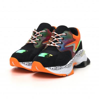 Γυναικεία μαύρα sneakers Sense8 tr180320-15 3