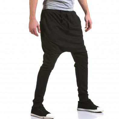 Ανδρικό μαύρο παντελόνι jogger Dress&GO it090216-35 4