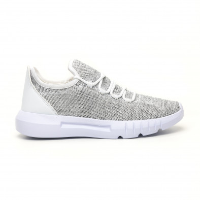 Ανδρικά λευκά μελάνζ αθλητικά παπούτσια ελαφρύ μοντέλο it041119-3 3