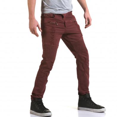 Ανδρικό κόκκινο παντελόνι Maximal it090216-9 4