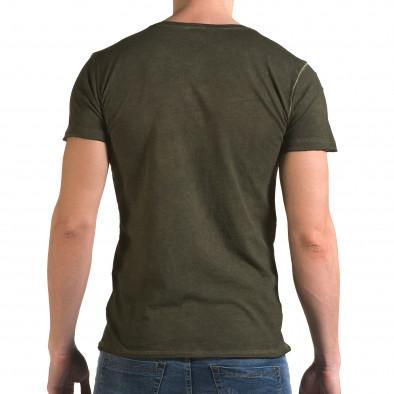 Ανδρική πράσινη κοντομάνικη μπλούζα Lagos il120216-3 3