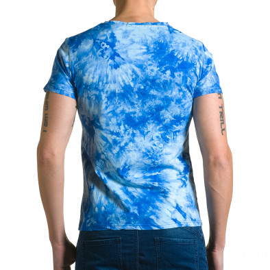 Ανδρική γαλάζια κοντομάνικη μπλούζα P2P ca190116-43 3