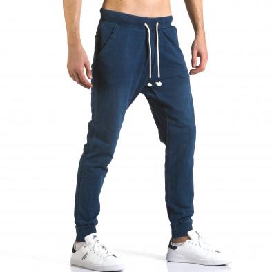 Ανδρικό γαλάζιο παντελόνι jogger Enos it090216-57 4