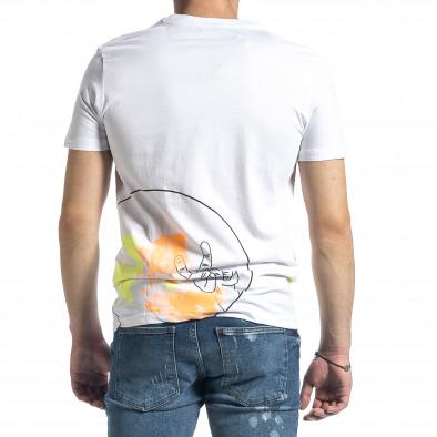 Ανδρική λευκή κοντομάνικη μπλούζα Breezy tr270221-38 3